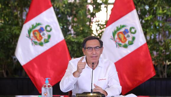 Presidente Martín Vizcarra se disculpó con los niños por la medida que los mantiene en sus casas. (Foto: Palacio de Gobierno)