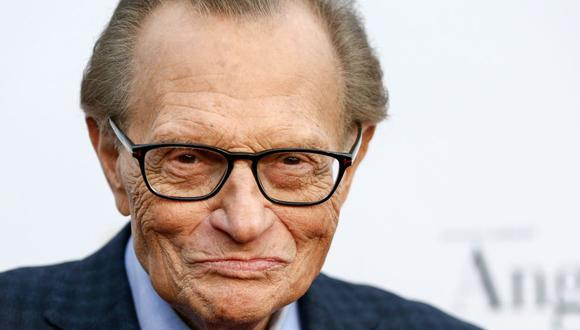 "Larry King y la vez que se despidió de la TV con un ""hasta pronto"". (Foto: AFP)."