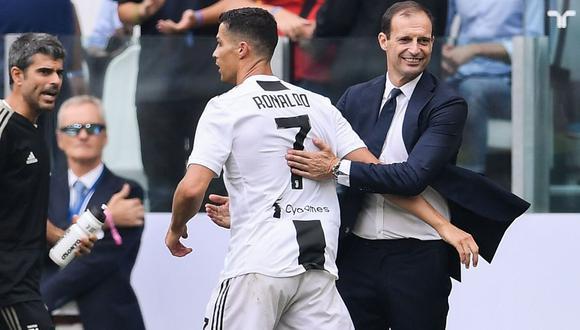"""Ronaldo fue respaldado por su técnico tras expulsión en Champions: """"Es el mejor del mundo"""". (Foto: AFP)"""