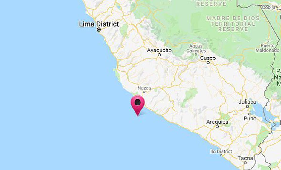 Sismo se registró en Caravelí, en la región Arequipa, esta noche. (Foto: Hidrografía Perú)