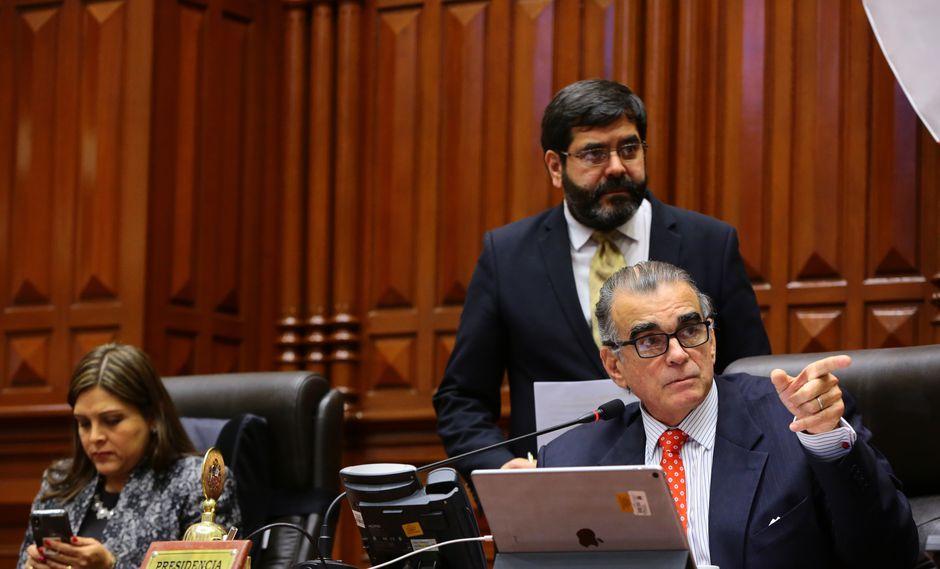 Pedro Olaechea fue elegido presidente del Congreso con el respaldo de las bancadas de Fuerza Popular, Acción Republicana, Cambio 21, Contigo y Apra. (Foto: Congreso)