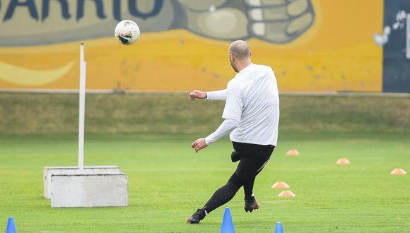 Así entrena Emanuel Herrera de cara al reinicio de la Liga 1. (Prensa Sporting Cristal)