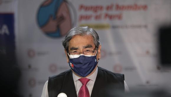 Ministro Óscar Ugarte señaló que se continúa trabajando en la lucha contra el COVID-19 en todo el país, pese a que exista reducción de cifras en alguna regiones y en otras un aumento de casos y decesos. (Foto: Archivo GEC)