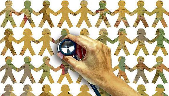 """""""Hoy, cerca de la mitad de la población mundial carece de acceso integral a los servicios sanitarios básicos"""". (Ilustración: Giovanni Tazza)"""