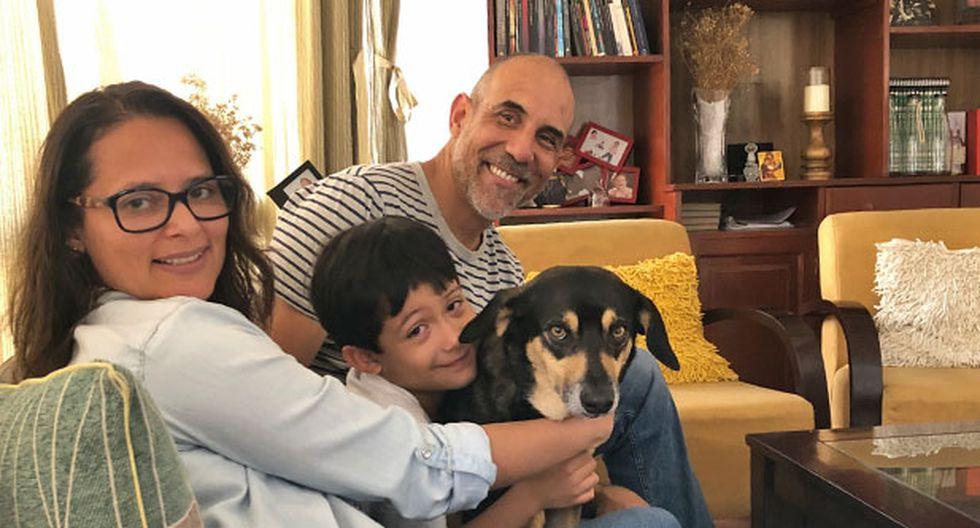 El gran Happy junto a Ariana, Alfredo y su hijo Fernando.