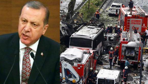Erdogan responsabiliza al PKK por el atentado en Estambul