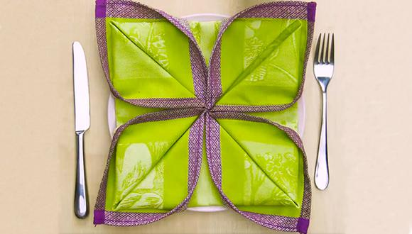 Descubre 6 increíbles formas de doblar servilletas. (Foto: Facebook / Ideas en 5 minutos)