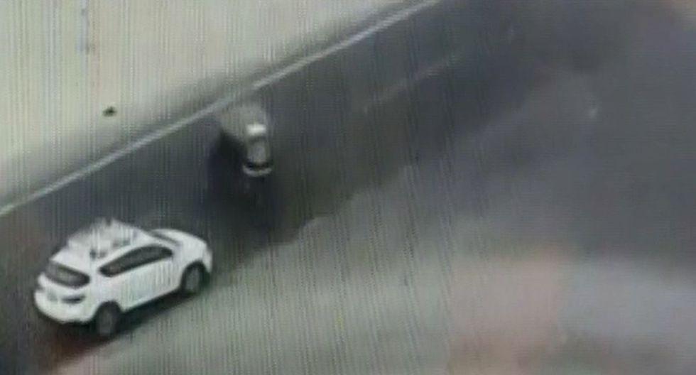 El conductor sobrevivió al accidente. (Foto: Captura/Canal N)