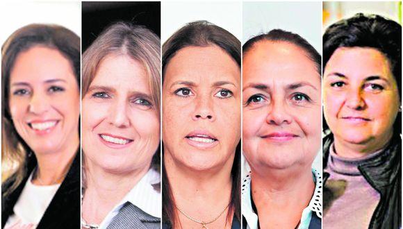 De izquierda a derecha: Evangelina Suarez (gerenta general de Coca-Cola), Mariela García de Fabbri (gerenta general de Ferreycorp), Marisol Suárez (CEO de la UPC), Rosario Bazán (CEO de la Denper) y Francesca Raffo (gerenta central de transformación del BCP desde el 1 de abril).