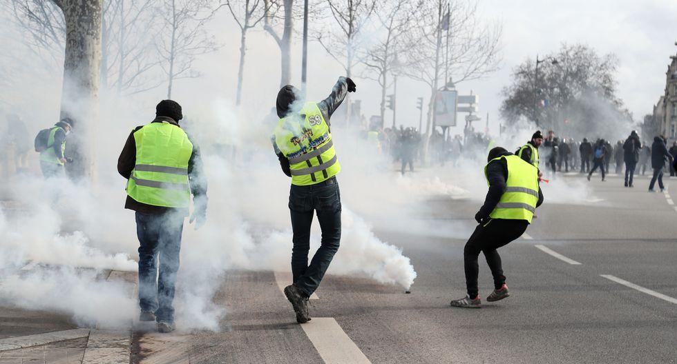 Los enfrentamientos tuvieron lugar en la puerta de la Asamblea Nacional, sede del Parlamento de Francia. (Foto referencial: AFP)