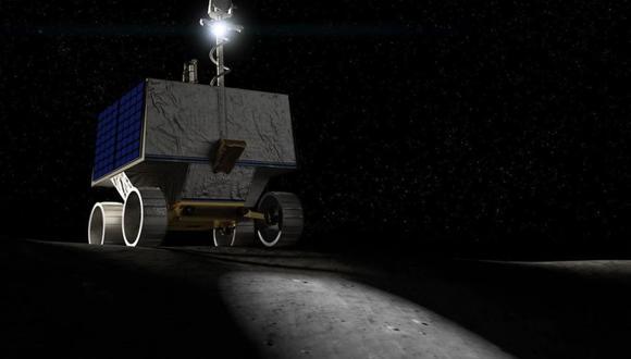 Recreación del rover VIPER. (NASA)
