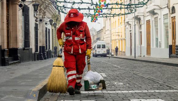 Arequipa: Año Nuevo dejó 100 toneladas de basura en las calles del Cercado | Foto: Municipalidad de Arequipa