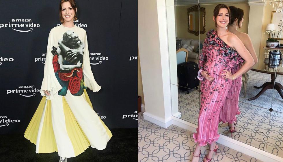 Recorre la galería y descubre los looks de embarazada de Anne Hathaway. (Fotos: IG