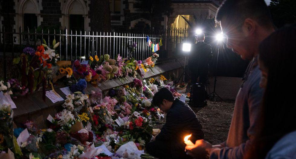 Un homenaje en recuerdo de las víctimas, en los Jardines Botánicos de Christchurch, Nueva Zelanda, el sábado. (Matthew Abbott para The New York Times).