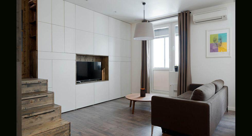 Ubicado en la ciudad de Moscú, es el hogar del diseñador Alireza Nemati, quien decidió darle un nuevo aire a la vivienda y convertirla en un espacio más funcional. (Foto: Alireza Nemati / behance.net)