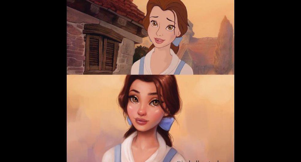 Artista pinta princesas Disney y les da toque más realista - 4