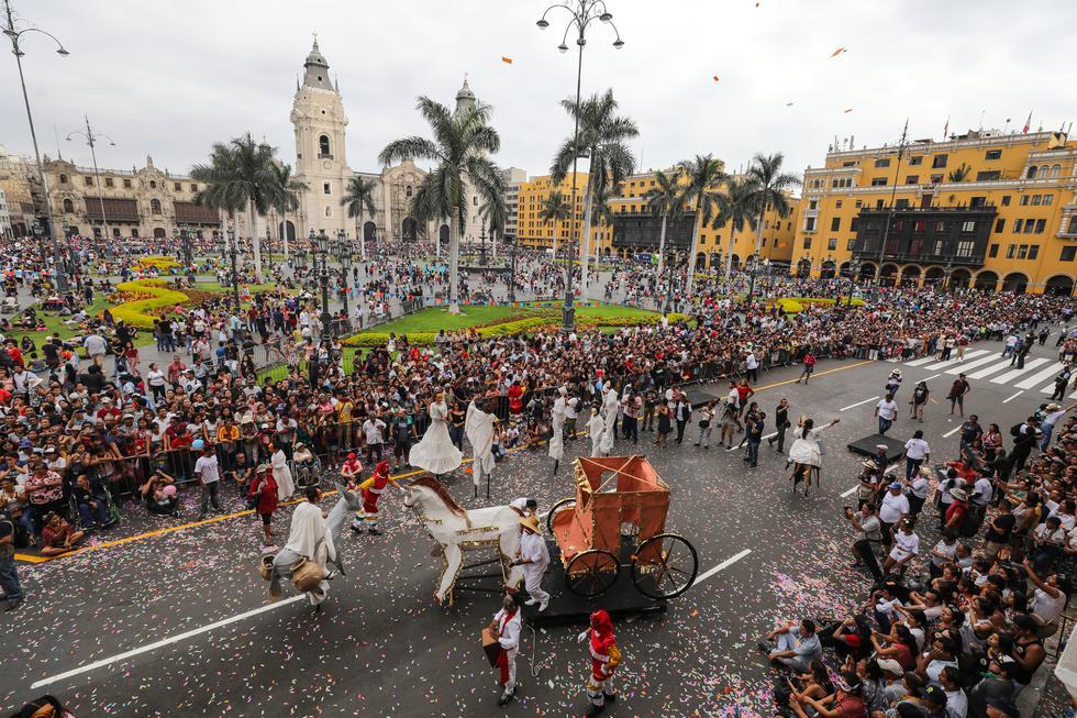 El último domingo 23 se llevó a cabo el 'Carnaval de Lima', un evento que reunió a cientos de vecinos y visitantes, nacionales y extranjeros. (Foto: Municipalidad de Lima)