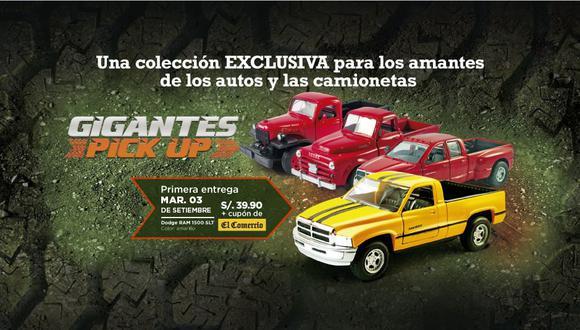Una colección de 10 entregas donde encontrarás las marcas mas reconocidas como: Ford, Dodge y Chevrolet a escala 1/32 y de lujo.