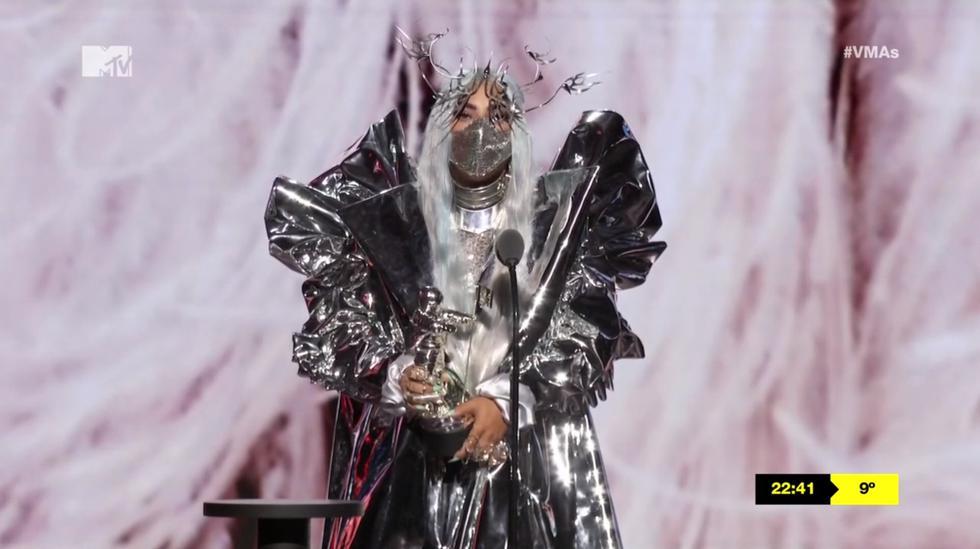 Lady Gaga durante su paso por los MTV Video Music Awards 2020. Foto: MTV VMA/ AFP.