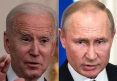 """Biden exige a Putin """"rebajar la tensión"""" tras escalada militar ante Ucrania y le propone cumbre"""