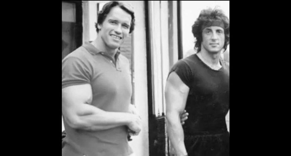 Arnold Schwarzenegger y Sylvester Stallone. (Foto: Agencia)