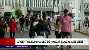 Argentina: uso de mascarillas al aire libre dejará de ser obligatorio