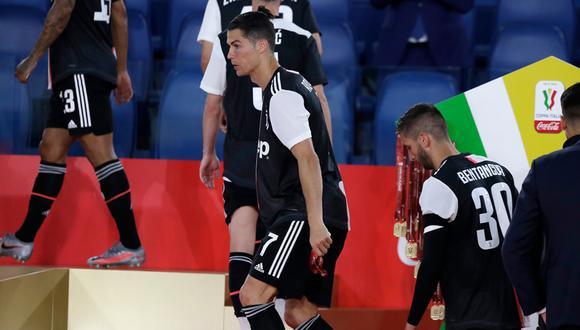 Cristiano Ronaldo no pudo convertir en la final de la Copa Italia   Foto: AFP