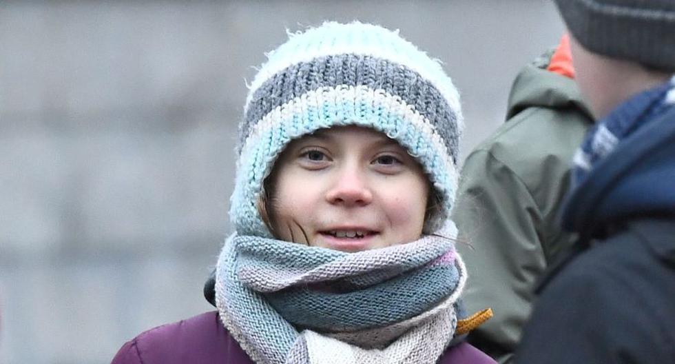 """La activista ambiental sueca Greta Thunberg participa en la huelga climática """"Viernes para el futuro"""", afuera del parlamento sueco en Estocolmo, en enero pasado. (Archivo/AFP/TT NEWS AGENCY/Claudio BRESCIANI)"""