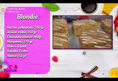 Receta de deliciosos blondies