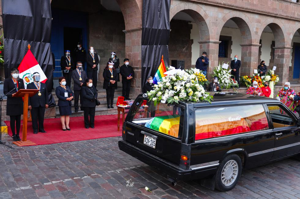 Cusco: rinden homenaje póstumo y dan último adiós a alcalde provincial. (Foto: Alejandro Delgado / Municipio Provincial de Cusco)