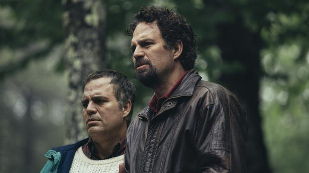 """Mark Ruffalo in a scene from """"I Know This Much is True"""".  From left to right, like twins Thomas and Dominick Birdsay.  Photo: HBO."""