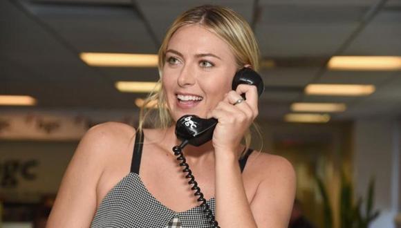 Maria Sharapova da su número de teléfono para estar en contacto con sus seguidores. (Foto: AFP)