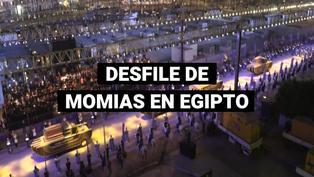 Desfile de momias de faraones paraliza El Cairo con espectacular desfile