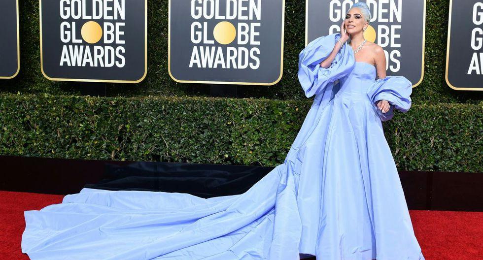 Subastarán el vestido de la marca Valentino que usó Lady Gaga en los Globos de Oro y olvidó en hotel. (Foto: AFP)