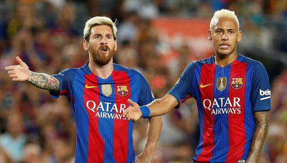 Lionel Messi y Neymar no son jugadores de equipo, según Van Gaal. (Foto: Reuters)