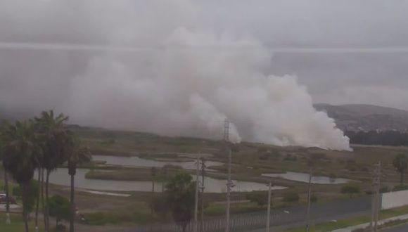 Chimbote: incendio consume áreas verdes de Vivero Forestal