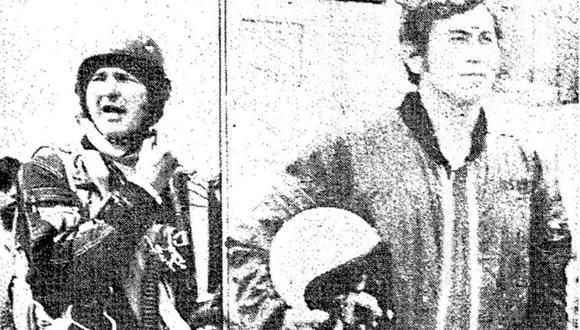 """En la imagen los dos """"ángeles negros"""" que rompieron el récord latinoamericano en Collique: Paulex y Cabrera. (Foto: GEC Archivo Histórico)"""