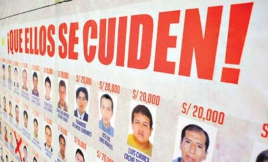 Las regiones que cuentan con más requisitoriados son Junín (16), San Martín (7), Cajamarca (5), Puno (5), Lambayeque (4), Lima Provincias (3), La Libertad (3) y Ayacucho (Foto: archivo)
