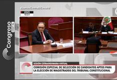 Comisión especial a cargo de elección de magistrados del Tribunal Constitucional excluyó a dos postulantes