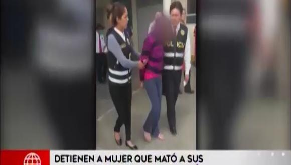Margot Godoy Agurto mató a dos de sus hijos y luego intentó suicidarse. (Foto: Captura América Noticias)