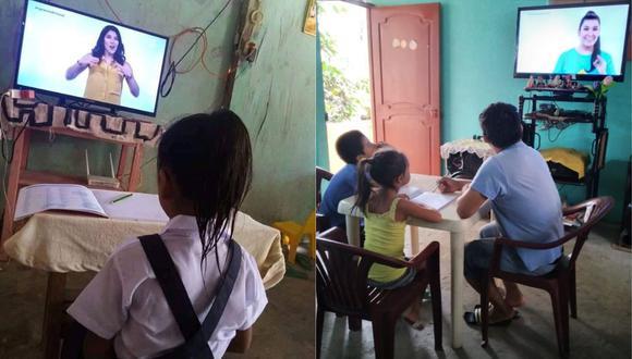 """""""Aprendo en casa"""" llegó a través de la señal de TV Perú. (Foto: Facebook Minedu)"""