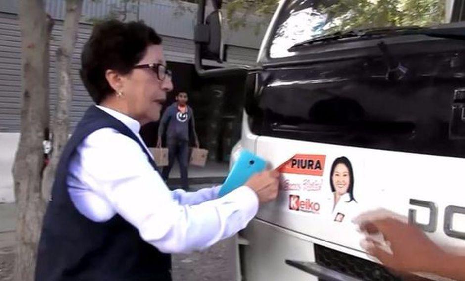 Iba a trasladar material electoral y tenía propaganda de Keiko