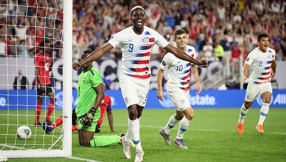 Estados Unidos vapuleó 6-0 a Trinidad y Tobago y avanzó a cuartos de final de la Copa Oro 2019. | Foto: Agencias