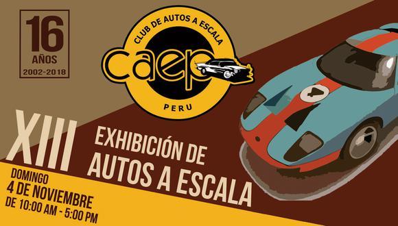 La XIII edición de este evento se realizará en la galería del Parque de la Amistad en Surco este 4 de noviembre.