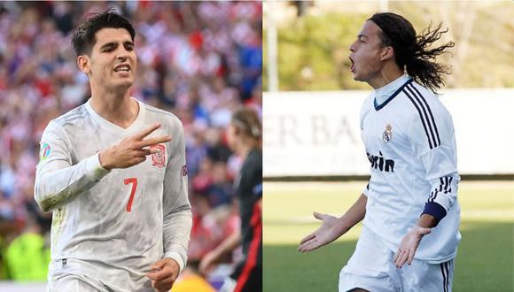 Álvaro Morata lleva dos goles en la Eurocopa 2021. También falló un penal. (Foto: AFP / Real Madrid)