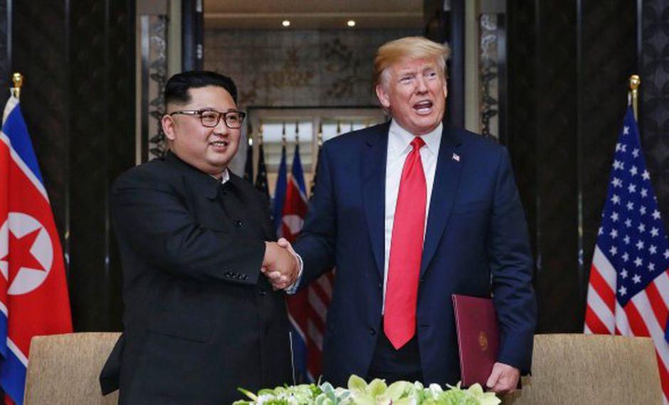 Kim Jong-un y Donald Trump. (Foto: EFE)