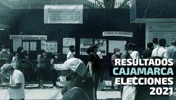 Resultados de las Elecciones 2021 en la región Cajamarca, según el conteo de la ONPE | Foto: Diseño El Comercio