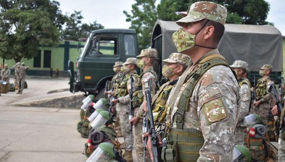 Soldados se encargaron de garantizar la seguridad y el orden en los locales de votación. (Foto: Comando Conjunto de las Fuerzas Armadas)