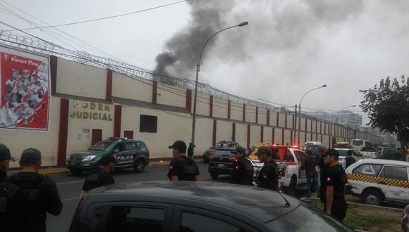 Aún se desconocen las causas del motín. No se ha reportado heridos durante el restablecimiento del orden por parte de la Policía Nacional. (Juan Guillermo Lara)