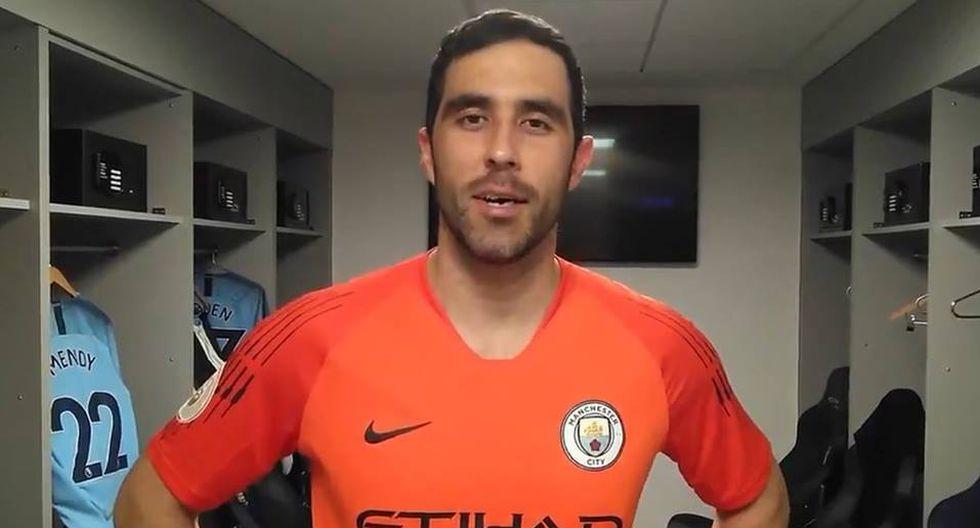 Claudio Bravo está listo para volver al fútbol profesional con Manchester City. (Foto y video: Manchester City)
